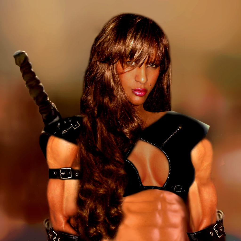 Gothic warrior women exposed scene